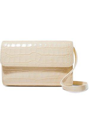 BY FAR | Cross-Over croc-effect leather shoulder bag | NET-A-PORTER.COM