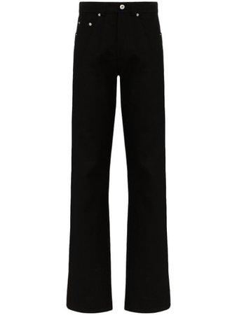 Kwaidan Editions Straight-Leg Jeans SS20WP028WDE Black | Farfetch