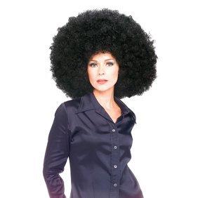 FUNKY AFRO WIG black 1970s big hair disco perm fro halloween costume accessory - Walmart.com