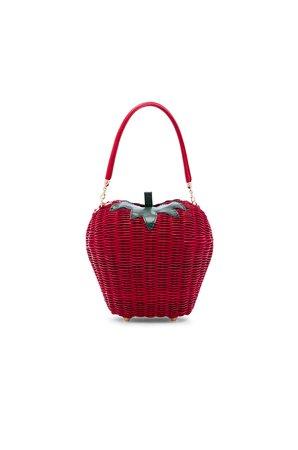 X REVOLVE Rouge Basket Bag