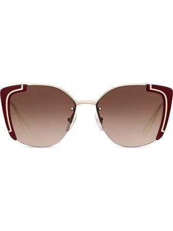 Prada Eyewear Ornate Sunglasses - Farfetch