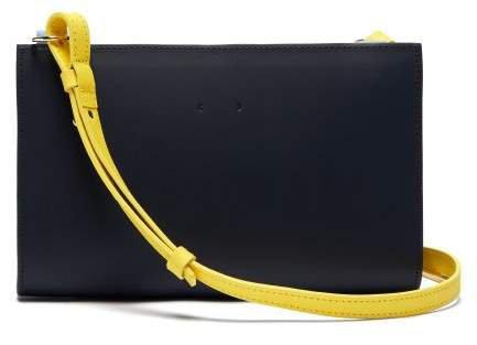 Ab 60 Leather Cross Body Bag - Womens - Navy Multi