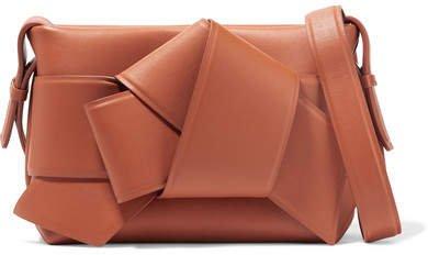 Musubi Knotted Leather Shoulder Bag - Camel
