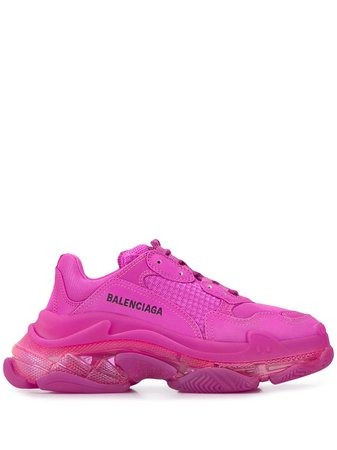 Balenciaga Triple S Sneakers Med Transparent Sula - Farfetch