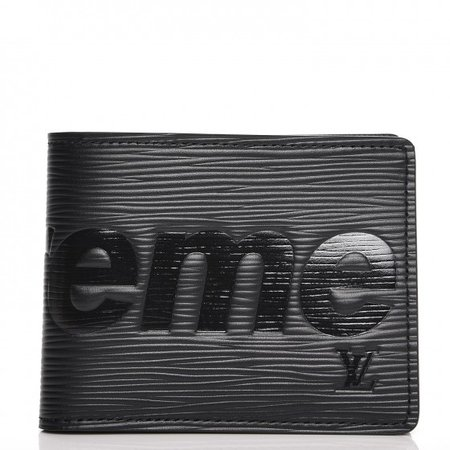 black supreme wallet