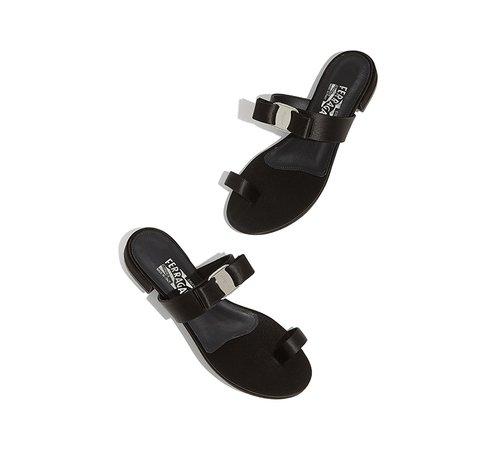 Vara bow flat sandal - Shoes - Women - Salvatore Ferragamo US