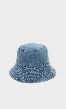Denim bucket hat - Women's Just in | Stradivarius United States