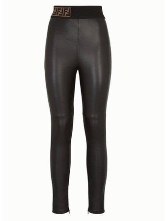 fendi leather trousers