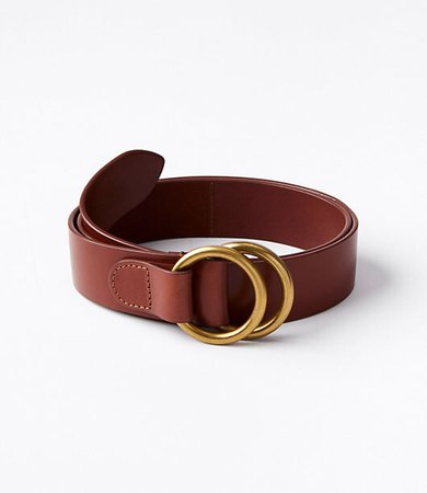 Double Ring Leather Waist Belt