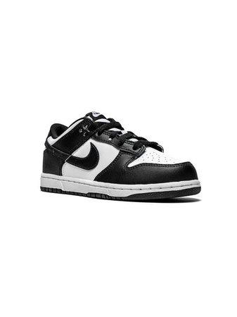 Nike Kids Dunk Low sneakers white & black CW1588100 - Farfetch