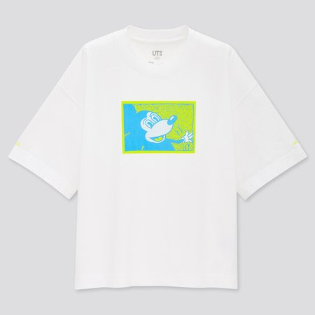 WOMEN MICKEY MOUSE X KEITH HARING UT (SHORT-SLEEVE GRAPHIC T-SHIRT) | UNIQLO US white