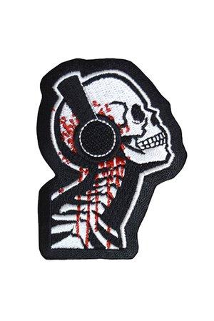 Tone Death Skull Gothic Patch by Akumu Ink | Gothic