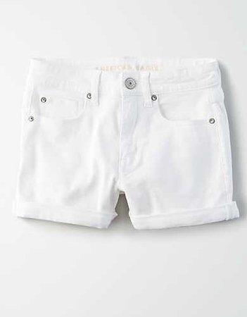 High-Waisted Denim Short Short