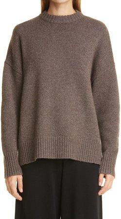 Oversize Wool & Cashmere Crewneck Sweater