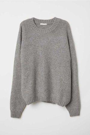 Knit Sweater - Gray melange - Ladies | H&M US