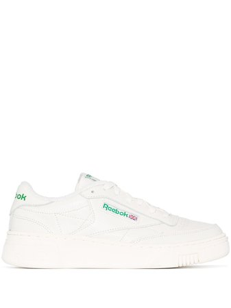 Reebok Club C Stacked Leather Sneakers - Farfetch