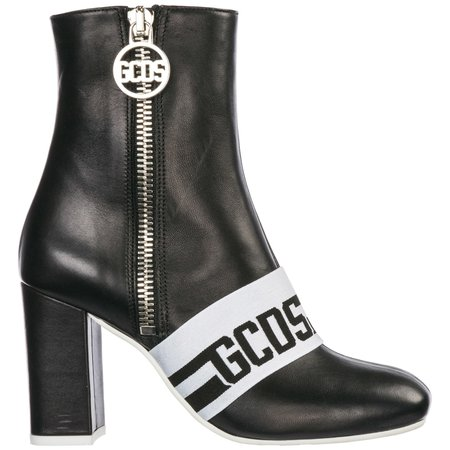 Gcds Logo Heeled Ankle Boots