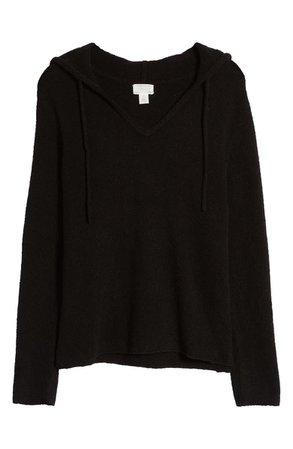 Caslon® V-Neck Sweater Hoodie | Nordstrom