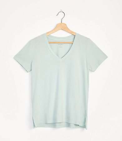 Softserve V-Neck Tee | Lou & Grey blue