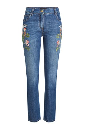 Embroidered Jeans Gr. 26