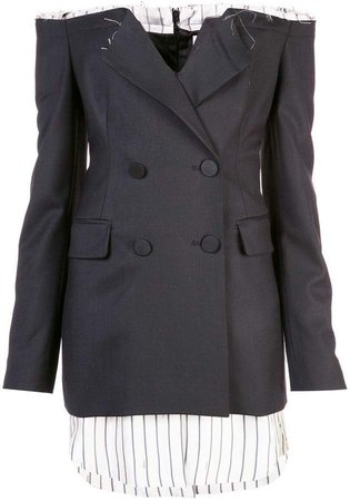 off-shoulder blazer dress