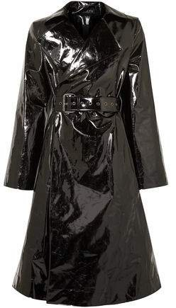 Belted Vinyl Trench Coat
