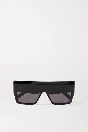 Black Oversized D-frame acetate sunglasses | Celine | NET-A-PORTER