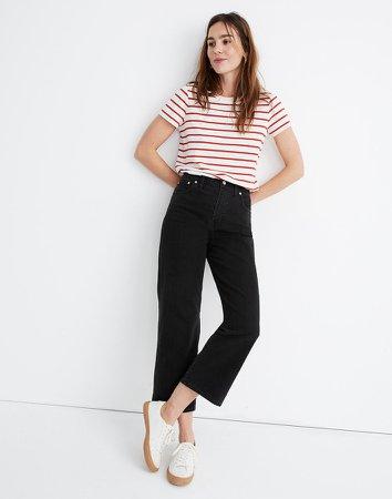 Petite Slim Wide-Leg Jeans in Lunar Wash