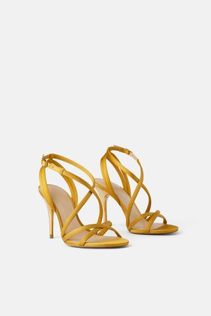 SATIN HEELED SANDALS - View all-SHOES-WOMAN   ZARA United States