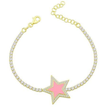 pink star bracelet