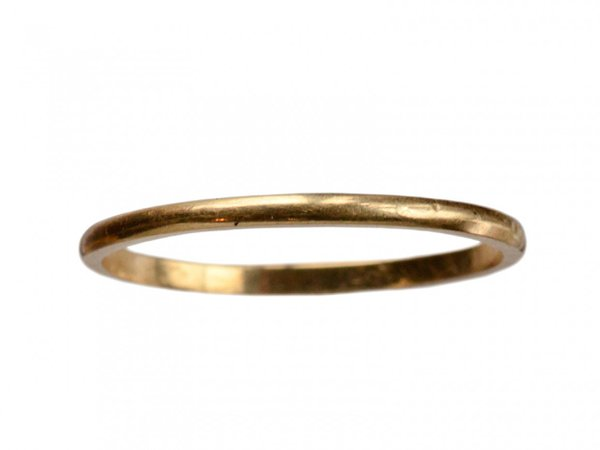 1920-40s Thin 14K Band - Sold Archive | Erie Basin