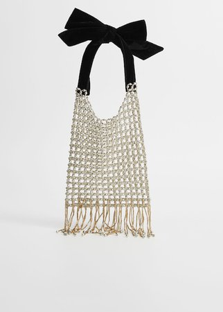 Fringe beads bag - Plus sizes   Violeta by Mango Cyprus (Euros)