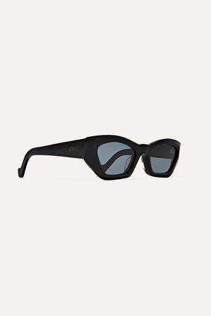 Black Hexagon-frame acetate sunglasses | Loewe | NET-A-PORTER