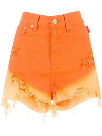 Denimist Gradient Effect Denim Shorts - Farfetch
