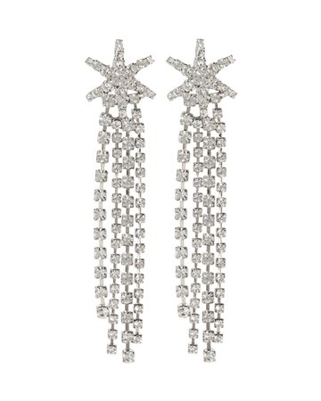 Jennifer Behr Esta Crystal Star Fringe Earrings | INTERMIX®