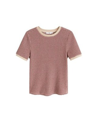 MANGO Jacquard knitted t-shirt
