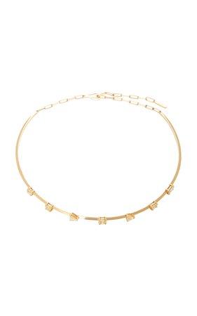 18K Gold Fancy Diamond Choker by Jack Vartanian