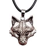 Amazon.com: QUVLOTIAZJ Wolf Necklace Wolf Symbol Necklace Wolf Jewelry Triquetra Pendant Wolf Jewelry,Wolf Jewelry Gift for Women Gift for her Gift for Man Handmade Necklace Gift idea, ot170 (A1): Sports & Outdoors