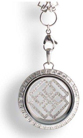 Greek key locket