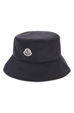 Moncler Logo Patch Bucket Hat | Nordstrom