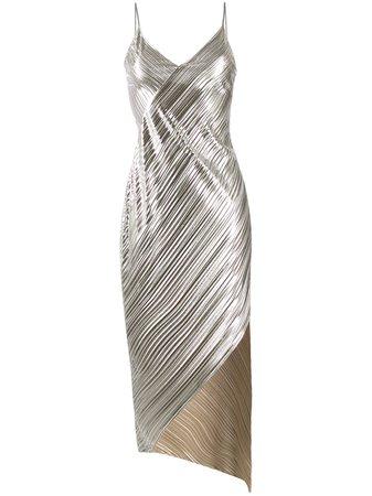 David Koma Metallic Pleated Dress - Farfetch