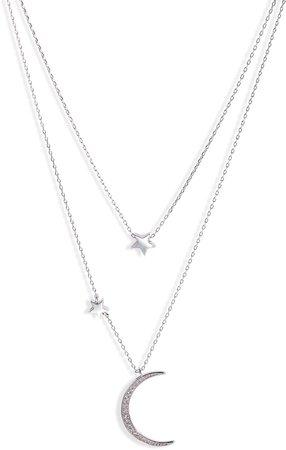 Fairbanks Moon & Star Layer Necklace