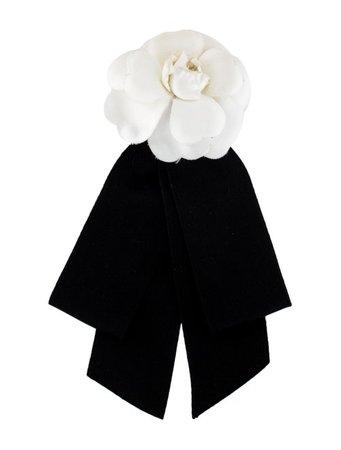 Chanel Camellia & Ribbon Brooch - Brooches - CHA342529 | The RealReal
