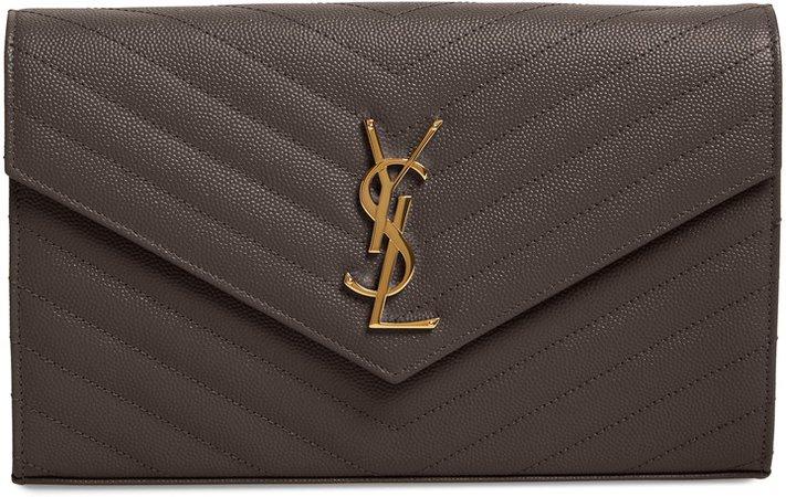 Monogramme Matelasse Pebbled Calfskin Wallet on a Chain