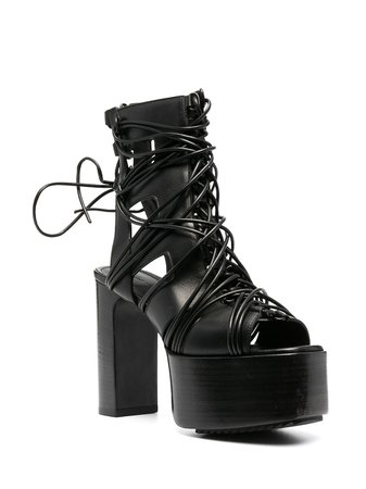 *clipped by @luci-her* black Rick Owens Performa megalaced