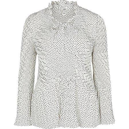 White spot print blouse   River Island