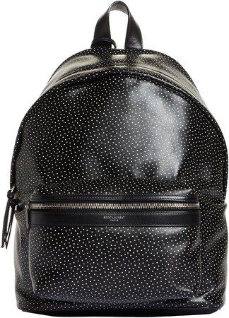 Mini City Dot Print Leather Backpack