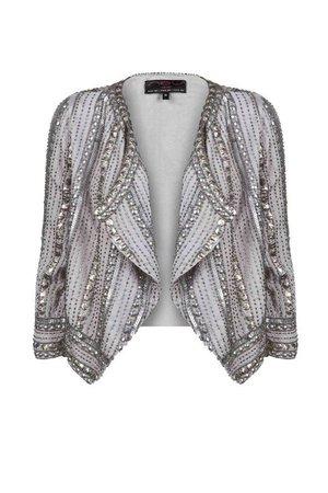 silver embellished jacket - Google Search