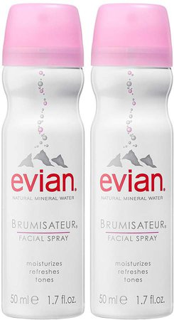 Brumisateur Natural Mineral Water Facial Spray Travel Duo