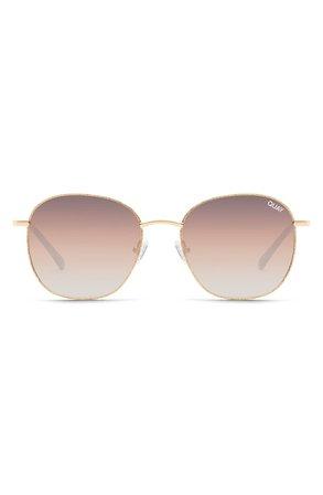 Quay Australia Jezabell 53mm Glitter Aviator Sunglasses | Nordstrom